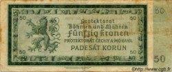50 Korun BOHÊME ET MORAVIE  1940 P.05a TB+