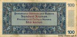 100 Korun BOHÊME ET MORAVIE  1940 P.06a TB