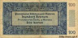 100 Korun BOHÊME ET MORAVIE  1940 P.07a B+