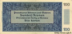 100 Korun BOHÊME ET MORAVIE  1940 P.07a TTB