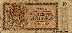 10 Korun BOHÊME ET MORAVIE  1942 P.08a AB
