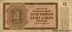 10 Korun BOHÊME ET MORAVIE  1942 P.08a TB