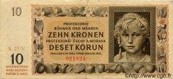 10 Korun BOHÊME ET MORAVIE  1942 P.08a TTB