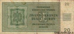 20 Korun BOHÊME ET MORAVIE  1944 P.09a pr.TB