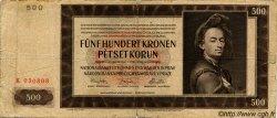 500 Korun BOHÊME ET MORAVIE  1942 P.11a B