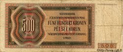 500 Korun BOHÊME ET MORAVIE  1942 P.11a TB