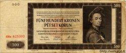 500 Korun BOHÊME ET MORAVIE  1942 P.12a TB