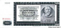1000 Korun BOHÊME ET MORAVIE  1942 P.13s TB+
