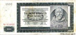 1000 Korun BOHÊME ET MORAVIE  1942 P.15a B+