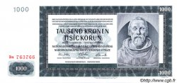 1000 Korun BOHÊME ET MORAVIE  1942 P.15a SPL+