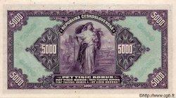 5000 Korun BOHÊME ET MORAVIE  1943 P.16s