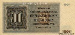 5000 Korun BOHÊME ET MORAVIE  1944 P.17s SPL