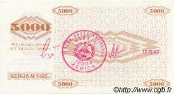5000 Dinara BOSNIE HERZÉGOVINE  1992 P.009h SPL