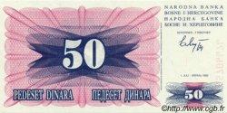 50 Dinara BOSNIE HERZÉGOVINE  1992 P.012a NEUF