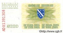 5000 Dinara BOSNIE HERZÉGOVINE  1993 P.016a NEUF