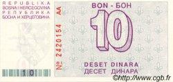 10 Dinara BOSNIE HERZÉGOVINE  1992 P.021a NEUF