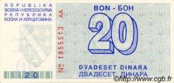 20 Dinara BOSNIE HERZÉGOVINE  1992 P.022a pr.NEUF