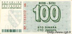 100 Dinara BOSNIE HERZÉGOVINE  1992 P.024a pr.NEUF
