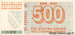 500 Dinara BOSNIE HERZÉGOVINE  1992 P.025a SPL+