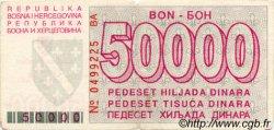 50000 Dinara BOSNIE HERZÉGOVINE  1993 P.029 TB
