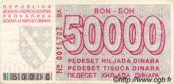 50000 Dinara BOSNIE HERZÉGOVINE  1993 P.029 TTB