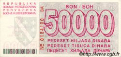 50000 Dinara BOSNIE HERZÉGOVINE  1993 P.029 SPL+