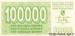 100000 Dinara BOSNIE HERZÉGOVINE  1993 P.031 NEUF