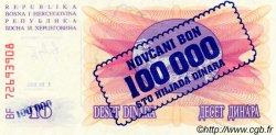 100000 Dinara BOSNIE HERZÉGOVINE  1993 P.034a NEUF