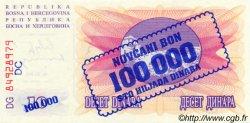 100000 Dinara BOSNIE HERZÉGOVINE  1993 P.034b NEUF