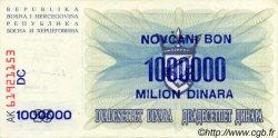 1000000 Dinara BOSNIE HERZÉGOVINE  1993 P.035b SUP