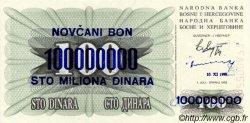 100000000 Dinara BOSNIE HERZÉGOVINE  1993 P.037 NEUF