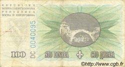 100 Dinara BOSNIE HERZÉGOVINE  1994 P.044a TB