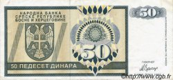 50 Dinara BOSNIE HERZÉGOVINE  1992 P.134a TTB