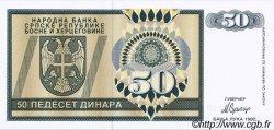 50 Dinara BOSNIE HERZÉGOVINE  1992 P.134s NEUF