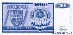 100 Dinara BOSNIE HERZÉGOVINE  1992 P.135s NEUF