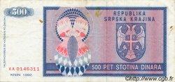 500 Dinara BOSNIE HERZÉGOVINE  1992 P.136a TTB