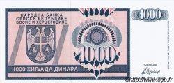 1000 Dinara BOSNIE HERZÉGOVINE  1992 P.137a NEUF