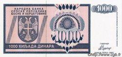 1000 Dinara BOSNIE HERZÉGOVINE  1992 P.137s NEUF