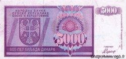 5000 Dinara BOSNIE HERZÉGOVINE  1992 P.138s SUP