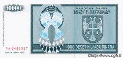 10000 Dinara BOSNIE HERZÉGOVINE  1992 P.139a NEUF