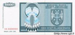 10000 Dinara BOSNIE HERZÉGOVINE  1992 P.139s NEUF