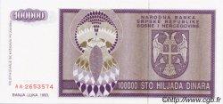 100000 Dinara BOSNIE HERZÉGOVINE  1993 P.141a NEUF