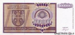 100000 Dinara BOSNIE HERZÉGOVINE  1993 P.141s NEUF