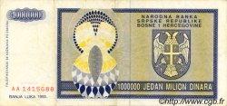 1000000 Dinara BOSNIE HERZÉGOVINE  1993 P.142a TTB