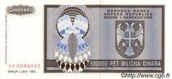 5000000 Dinara BOSNIE HERZÉGOVINE  1993 P.143a NEUF