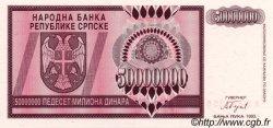 50000000 Dinara BOSNIE HERZÉGOVINE  1993 P.145a NEUF