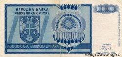 100000000 Dinara BOSNIE HERZÉGOVINE  1993 P.146a