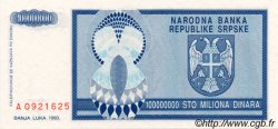 100000000 Dinara BOSNIE HERZÉGOVINE  1993 P.146a NEUF