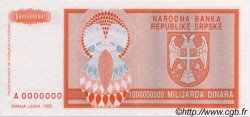 1000000000 Dinara BOSNIE HERZÉGOVINE  1993 P.147s NEUF