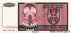 10000000000 Dinara BOSNIE HERZÉGOVINE  1993 P.148s NEUF